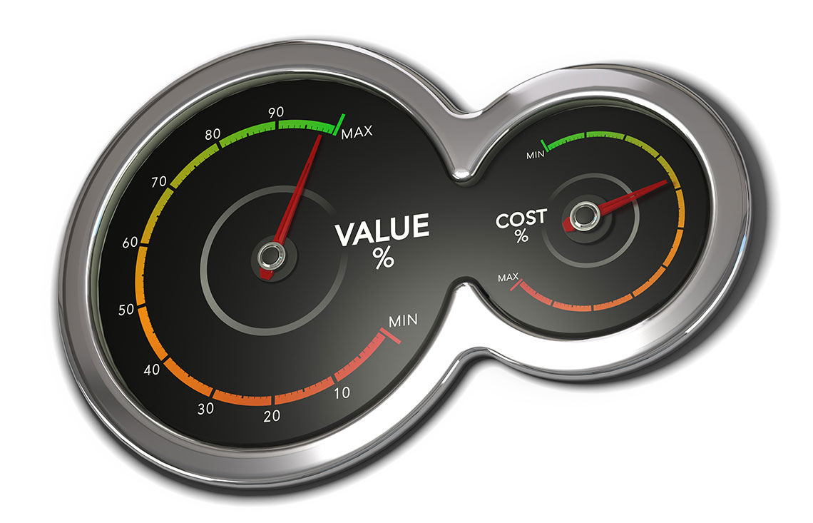 Measure your marketing - value and cost gauges