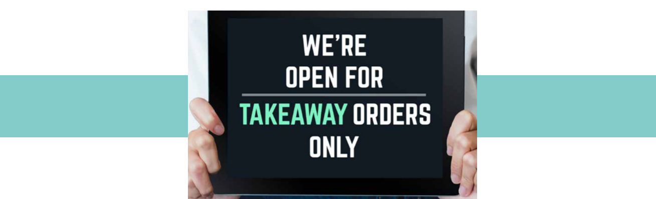 open for takeout only sign